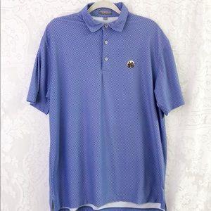 Peter Millar summer comfort polo white/blue sz L